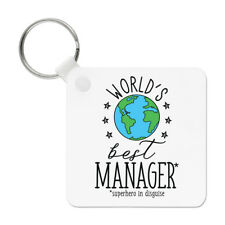 World's Best Manager Keyring Key Chain - Funny Gift Present
