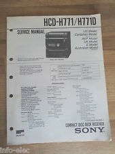 Schema SONY - Service Manual Compact Disc Deck Receiver HCD-H771 HCD-H771D
