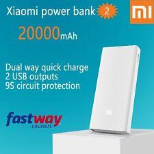 New Xiaomi MI 20000mAh  Power Bank 2 External Battery Dual USB Free Case