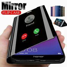 Chapado de Cuero Inteligente + Funda protectora rebatible de PC MIRROR View Huawei Y6S Y8P Y5P Y7P Y6P