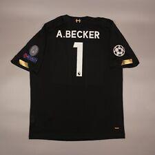 Alisson Becker #1 Liverpool 2019 2020 Goalkeeper Shirt Jersey Football Soccer