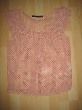 Womens Size Medium Red Heart Sheer Top from Zara
