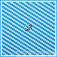 BonEful Fabric FQ Cotton Quilt VTG Aqua Blue White Turquoise Eliza Stripe Small