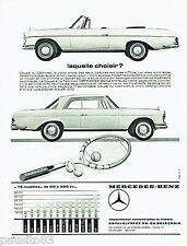 PUBLICITE ADVERTISING  016  1967  MERCDES-BENZ  le coupé et cabriolet  250 & 300