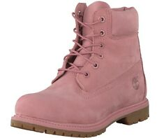 "Timberland 6"" inch Waterproof Double Sole Pink Suede Boot Womens 7 RARE"