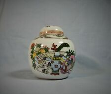 Vintage rare Cantom famille rose ginger jar hand painted circa early 20 Century