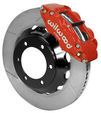 "WILWOOD DISC BRAKE KIT,FRONT,05-17 TOYOTA TACOMA,6-LUG,14"" ROTORS,RED CALIPERS"