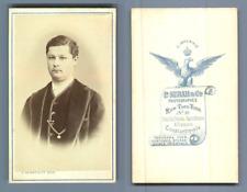 Sebah, Constantinople, portrait d'homme, à identifier Vintage albumen print