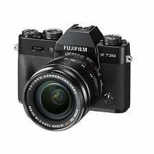 Fuji Fujifilm X-T20 w/18-55mm F/2.8-4 (Black) & FREE Extra Fuji Battery *NEW*