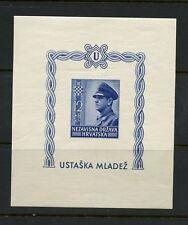 Croatie 1943 #B31 Ante Pavelich Imperf Feuille Mvlh M325