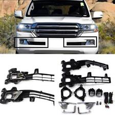 For Toyota Land Cruiser LC200 2016 - 2018 Front Fog Lamp Cover Trim Replace Sets