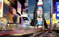 "TIMES SQUARE NEW YORK NEW A1 CANVAS GICLEE ART PRINT POSTER 33.1"" x 21.4"""
