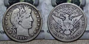 1897 S Barber Half Dollar 50c Better Date !!