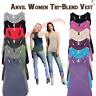 ANVIL Women's Triblend Racerback Tank Top Soft Sleeveless Athletic Vest T-shirt
