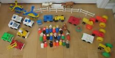 Large Lot Vintage Fisher Price Little People Vehicles Helicopters & Other Items