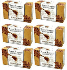 6x Bars Venezia Soapworks Pure Vegetable Soap Honey Almond Triple Refined 7 oz