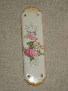 Vintage floral ceramic door finger plate