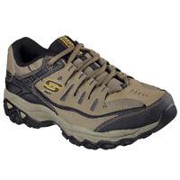 Skechers Men's After Burn Memory Fit Low Top Sneaker Shoes Black Footwear