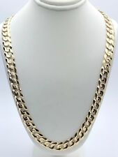 "Men's Solid 10K Yellow Gold 20"" Cuban Link Chain Necklace 9.5mm - 47 grams"