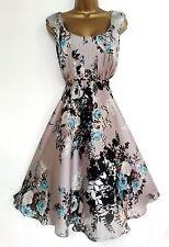 MONSOON  ✩  STUNNING OREGAN MINK SILKY FIT & FLARE COCKTAIL DRESS  ✩  UK SIZE 14