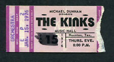 1976 The Kinks concert ticket stub Houston Texas Schoolboys In Disgrace