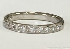 Estate Jewelry Ladies 0.39 Ctw Diamond Ring 14K White Gold Band Size 5