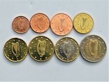 2002 Complete set of (8) EURO coins IRELAND - FIRST YEAR OF ISSUE - BU UNC!