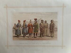 1884 Laplanders Sami from Sweden & Norway and Eskimos Inuits from Canada Print