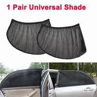 2X Black Car Rear Side Window Sun Visor Shade Cover Shield Sunshade UV Protector