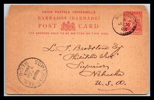 GP GOLDPATH: BARBADOS POSTAL CARD 1903 _CV568_P19