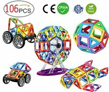 110 Piece Magnetic Tiles magnetic Building Blocks Toys for Kids