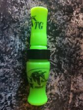 Tim Grounds G Force Goose Call Lime Green/Black Band + Free Lanyard