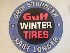 Gulf Winter Tires Advertising Metal Sign 60's?
