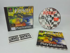 V-Rally - PS1 (Sony Playstation 1) Complete (PAL) Black Label