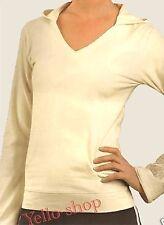 Yoga - fitness Kapuzenshirt mit Kängeruhtaschen beige Gr.S