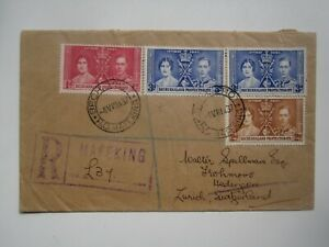 1937 BECHUANALAND REGISTERED CORONATION COVER