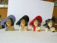Hedy Lamarr In Big Hat 7 Inch Head Vase Choice Of 4 Colors SPECIAL FREE SHIP