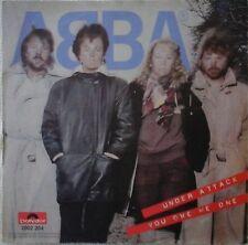"ABBA - UNDER ATTACK 7"" VINYL POLYDOR HOLLAND 1980s POP EUROVISION AGNETHA EX/EX"