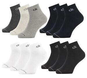 CK Calvin Klein MEN QUARTER 3P NICK Socken Sneakersocken 73% Baumwolle