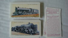 TRAINS  RAILWAY ENGINES  BY WILLS REPRO FULL SET OF 50 CARDS VG IMP PUB 1992