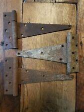 3 Architectural Salvage Vintage Antique Cast Iron Door Gate Barn Hinges ORIGINAL