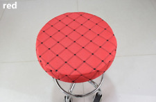 """10Pcs 14"""" Bar Stool Covers Round Chair Seat Cover Cushion Sleeve Red Dental"""