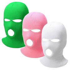 3Color 3Hole Full Face Balaclava Cover Helmet Warm Motorcycle Winter Hat Cap Ski