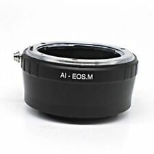 Nikon F Mount AI Lens to Canon EOS M EF-M Mount Mirrorless Camera Adapter Ring