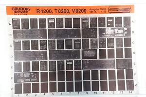 Grundig Service R4200 T8200 V8200 Hifi Klassiker Verstärker Microfiche 1986 K205