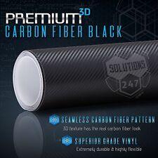 """3D Black Carbon Fiber Vinyl Wrap Bubble Free Air Release - 60"""" x 60"""" Inch (K)"""