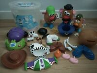 Mr And Mrs Potato Head Bundle With Toy Story 3 Accessories & Tub Bundle