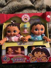 2007 Fisher Price Dora The Explorer Cuddle & Care Twins Nrfb