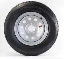 "Two Trailer Tires & Rims ST205/75D14 2057514 F78-14 14"" LRC 5 Lug Silver Modular"