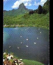 MOOREA (POLYNESIE) BAIE de COOK & CLUB BALI HAI en vue aérienne en 1985